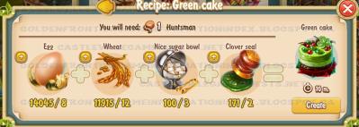 Golden Frontier Green Cake Recipe (Kitchen)