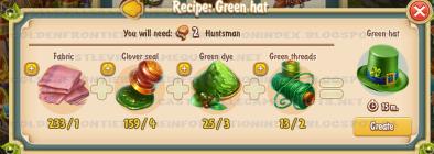 Golden Frontier Green Hat Recipe (Textile Workshop)