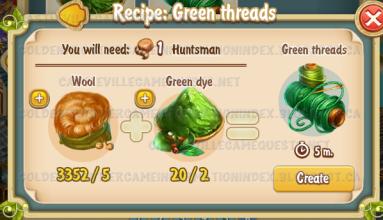 Golden Frontier Green Threads Recipe (workshop)