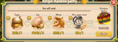 Golden Frontier Rainbow Pastry Recipe (Kitchen)