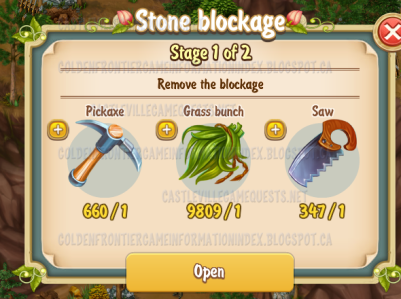 1st stone blockage stage 1
