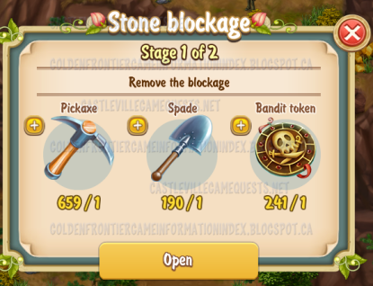 2nd Stone Blockage Stage 1