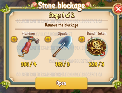 3rd Stone Blockage Stage 1