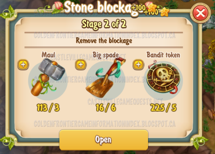 3rd Stone Blockage Stage 2