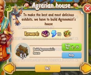 Golden Frontier Agrarian House Quest