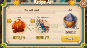 Golden Frontier Ash Recipe (workshop)