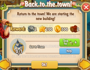 Golden Frontier Back to the Town Quest