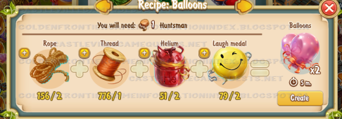 Golden Frontier Balloons Recipe (workshop)