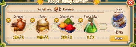 Golden Frontier Balmy Ointment Recipe (barn)