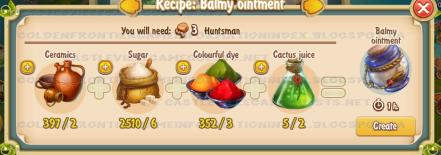 Golden Frontier Balmy Ointment Recipe (barn)