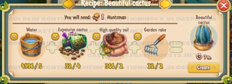 Golden Frontier Beautiful Cactus Recipe (barn)