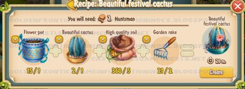 Golden Frontier Beautiful Festival Cactus Recipe (florist house)