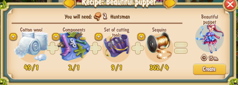 Golden Frontier Beaytiful Puppet Recipe