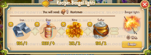 Golden Frontier Bengal Lights Recipe (smithy)