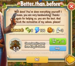 Golden Frontier Better Than Before Quest