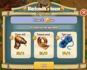 Golden Frontier Blacksmith's House Stage 3