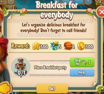 Golden Frontier Breakfast for Everybody Quest