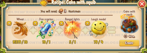 Golden Frontier Cake with Squib Recipe (Kitchen)