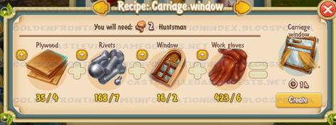Golden Frontier Carriage Window Recipe