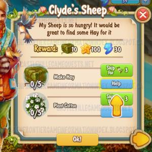 Golden Frontier Clyde's Sheep Quest