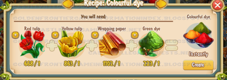 Golden Frontier Colorful Dye Recipe