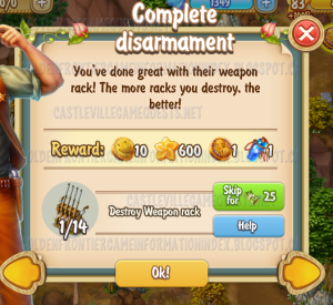 Golden Frontier Complete Disarmament Quest