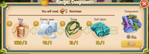 Golden Frontier Component Recipe