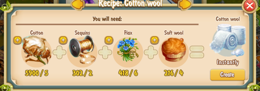 Golden Frontier Cotton Wool Recipe (workshop)