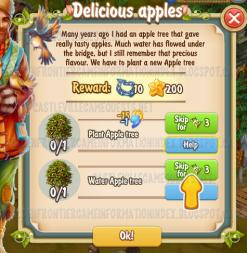 Golden Frontier Delicious Apples Quest