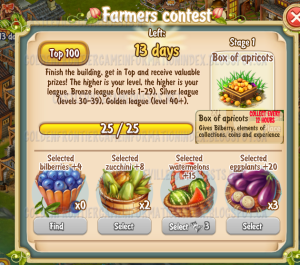 Golden Frontier Farmer's Contest Stage 1