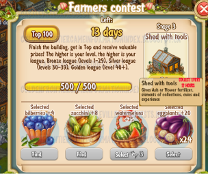 Golden Frontier Farmer's Contest Stage 3
