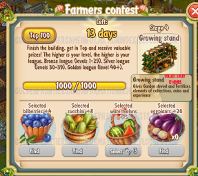 Golden Frontier Farmer's Contest Stage 4