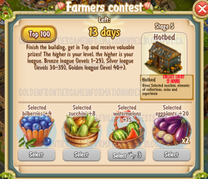 Golden Frontier Farmer's Contest Stage 5