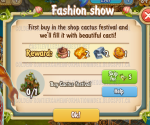 Golden Frontier Fashion Show Quest