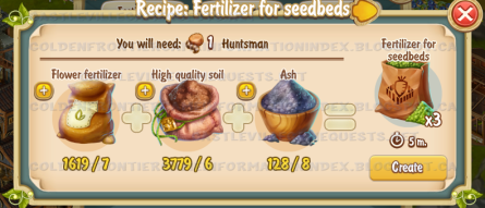Golden Frontier Fertilizer for Seedbeds Recipe (Agronomist House)