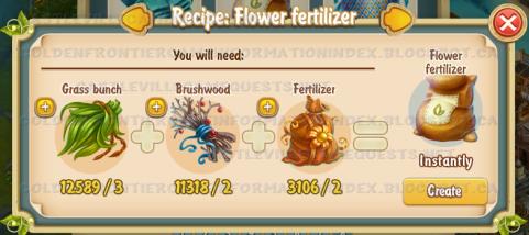 Golden Frontier Flower Fertilizer Recipe (workshop)