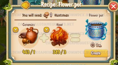 Golden Frontier Flower Pot Recipe (workshop)