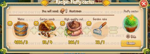 Golden Frontier Fluffy Cactus Recipe (barn)