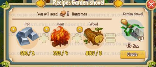 Golden Frontier Garden Shovel Recipe (smithy)