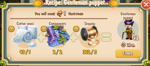 Golden Frontier Gentleman Puppet Recipe