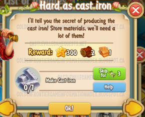 Golden Frontier Hard as Cast Iron Quest