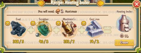 Golden Frontier Heating Boiler Recipe