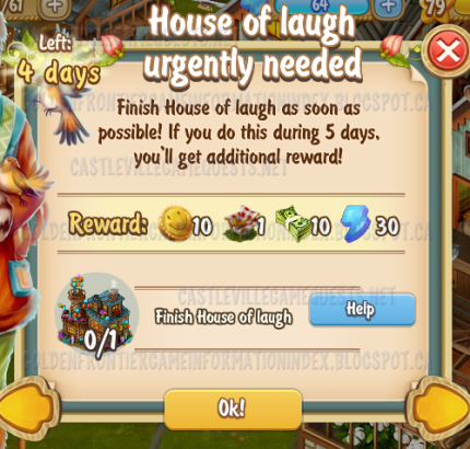 Golden Frontier House of Laugh Urgently Needed Quest