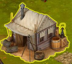 Golden Frontier Huntsmen Tent