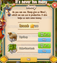 Golden Frontier It's Never Too Many Sheep Quest