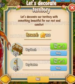 Golden Frontier Let's Decorate Territory Quest