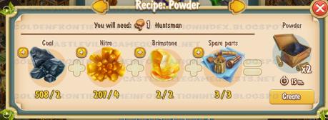 Golden Frontier Powder Recipe (smithy)