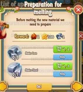 Golden Frontier Preparation for Melting Quest