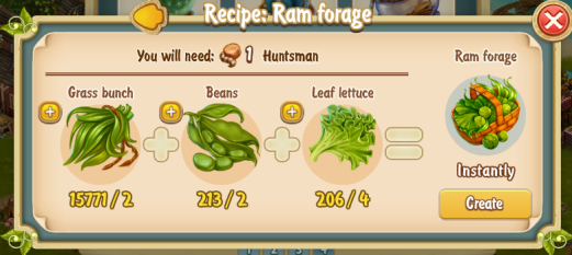 Golden Frontier Ram Forage Recipe (barn)