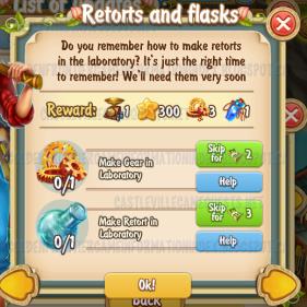 Golden Frontier Retorts and Flasks Quest